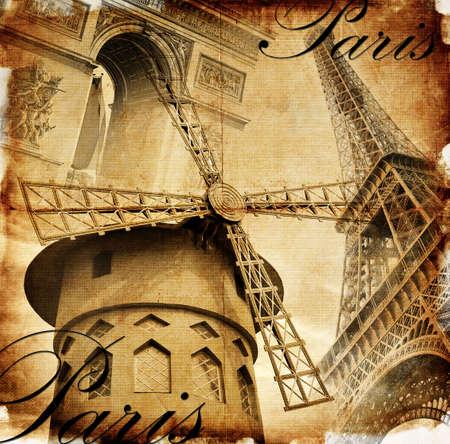 Parisian details - vintage card