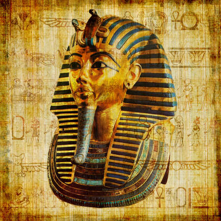 hieroglyphics: old egyptian papyrus