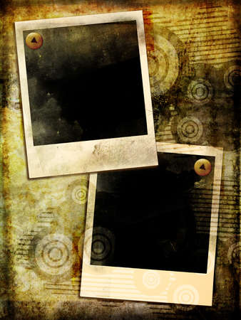 grungy polaroid frames photo