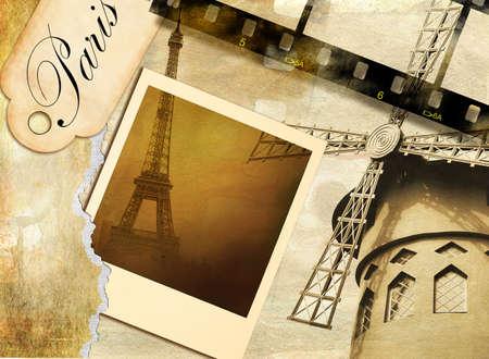 old photoalbum - Paris Stock Photo - 3800262