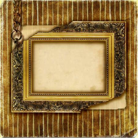 gilded: empty damage frame over old wallpaper