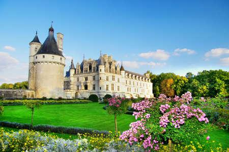 loire: beautiful Chenonseau castle -Loire valley