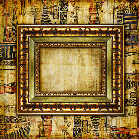 hieroglyphics: egyptian background with frame