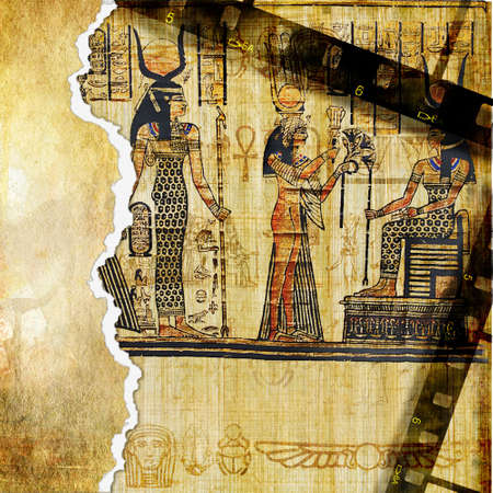 hieroglyphics: egyptian background