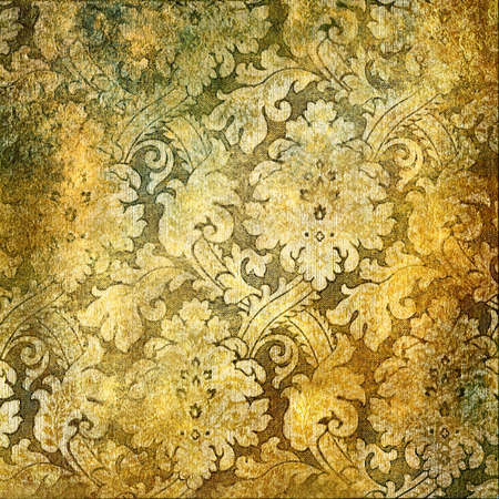 vintage golden wallpaper Stock Photo