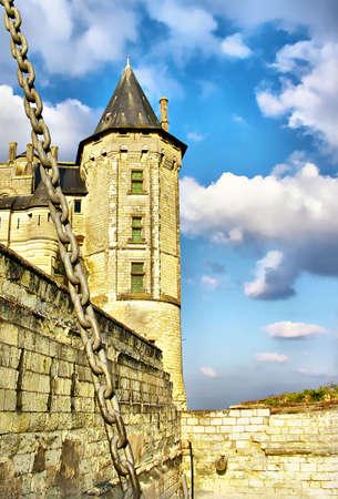loire: Saumur castle - Loire valley Stock Photo