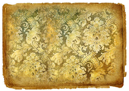 vintage paper with patterns photo