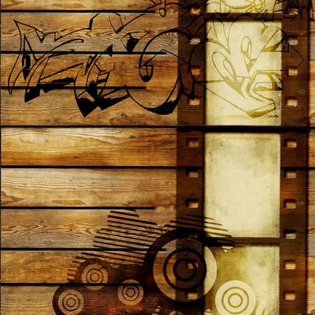 graffiti brown: vintage abstracci�n con pel�cula