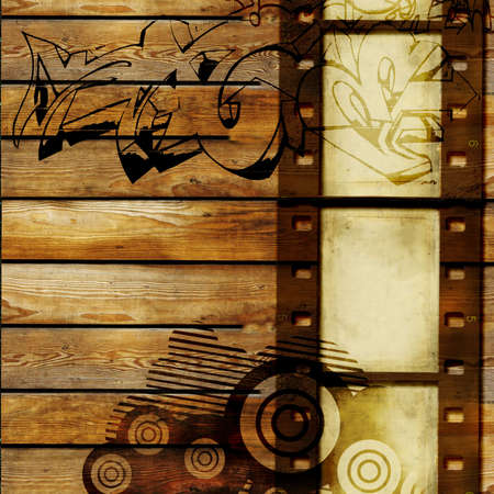 filmstrip: vintage abstraction with filmstrip Stock Photo