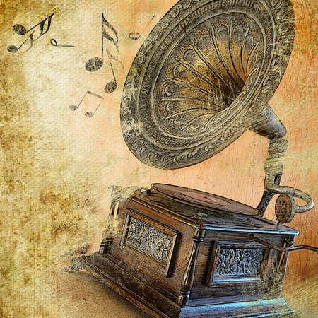 turntable: musical retro Stock Photo