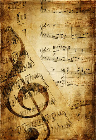 grubby: vintage musical background Stock Photo