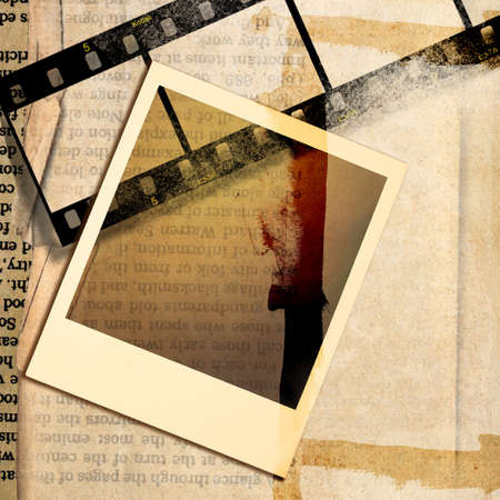 paperboard: retro grunge background with frames