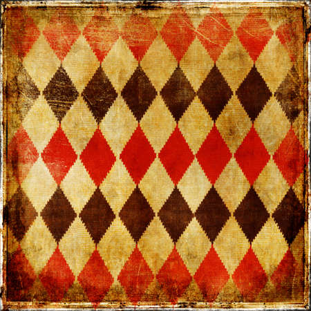 stockinet: vintage paper with geometric ornament Stock Photo