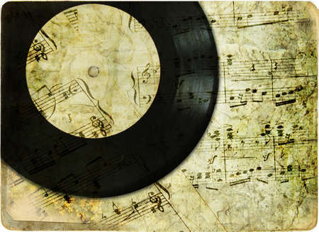 retro musical background photo