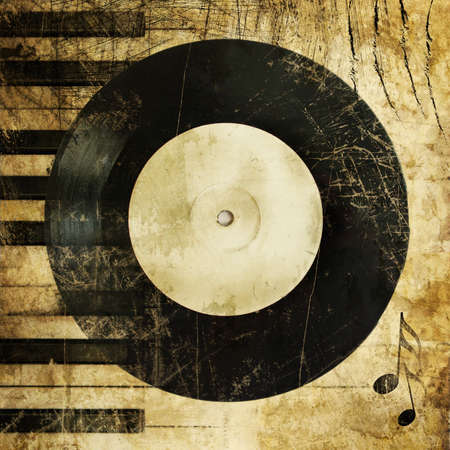 musical background in grunge style Stock Photo - 4024572