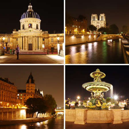 beautiful Paris at night photo