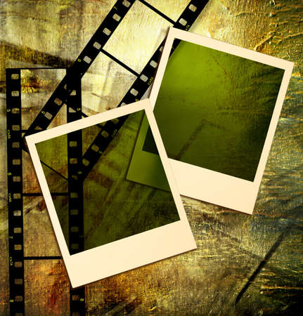 strip structure: background with filmstrips and instant frames