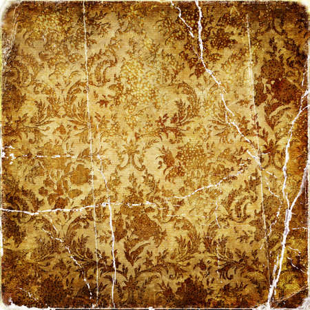 grubby: old torn golden paper