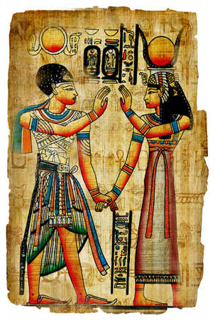ancient egyptian papyrus photo