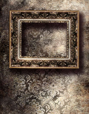 love: emty frame ove silver wall