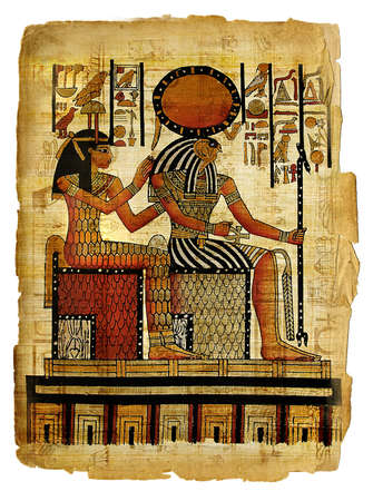 ancient egyptian papyrus Stock Photo