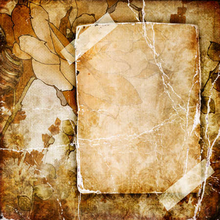 paperboard: vintage background with place for text