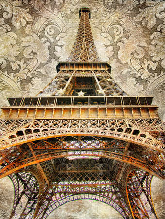 Eiffel tower - artistic picture