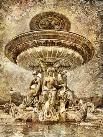 parisian: Parisian details - fountain - artistic picture  Stock Photo