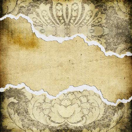 torn paper background: vintage torn paper background
