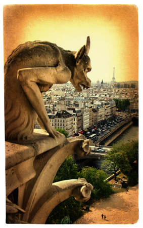 parisian details - Notre dame Stock Photo - 4180418