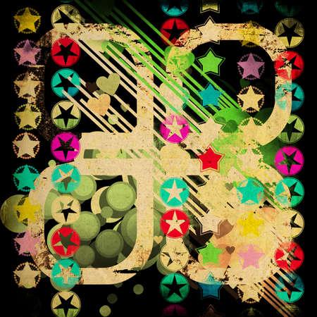 multycolored: stylish retro background