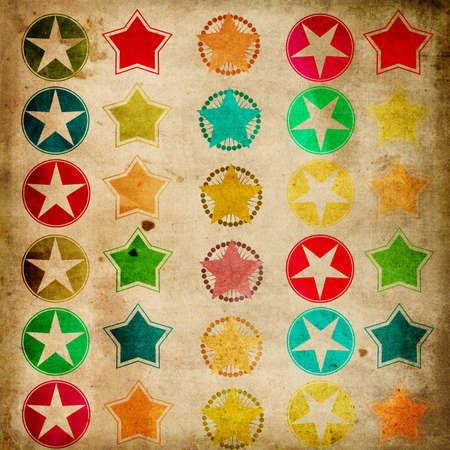 multycolored: vintage stars paper