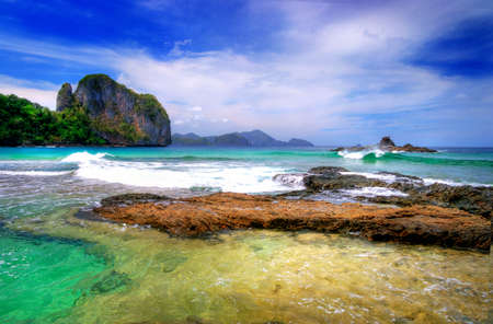 pictorial marine landscape Banco de Imagens