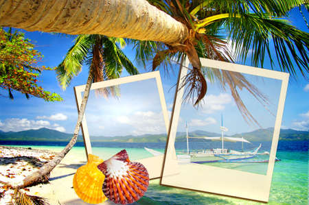 photoalbum: tropical holidays - artistic photoalbum Stock Photo