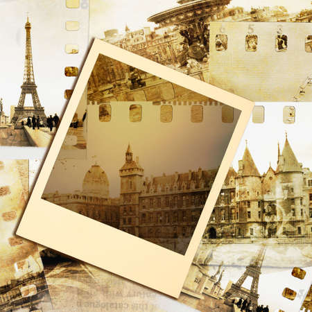 travel collage: Parisian photoalbum