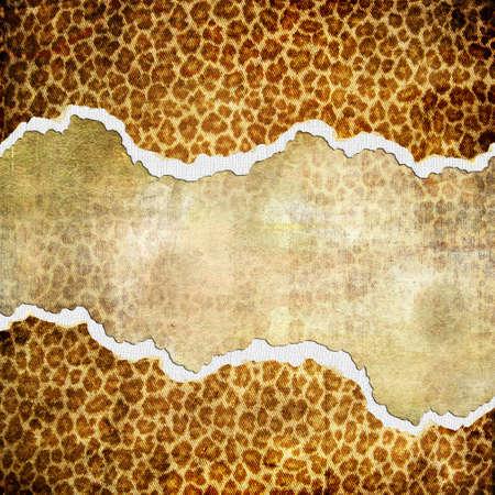 paperboard: vintage golden background with torn borders