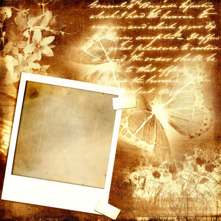 vintage paper background with instant frame photo