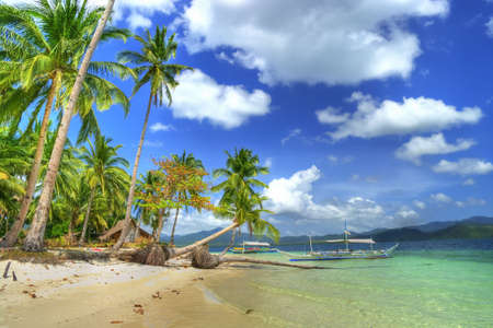 island paradise: beautiful tropical island Stock Photo