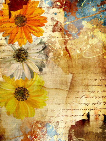 scrapbooking: messy background in grunge style Stock Photo