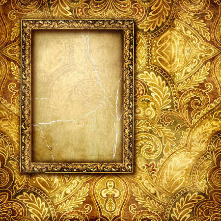 vintage paper with frame Stock Photo