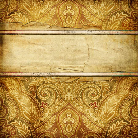 vintage paper background with patterns and place for text