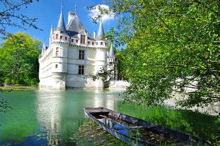 loire: beautiful romantic Azey castle - Loire valley