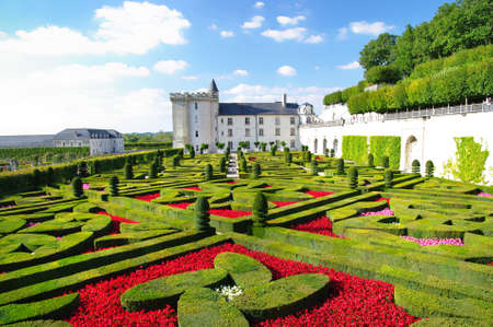 amazing garedens of Villandry castle Stock Photo
