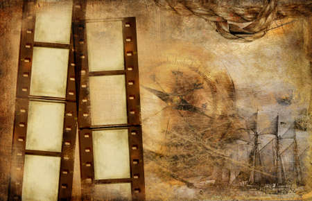photoalbum: vintage background with film strips