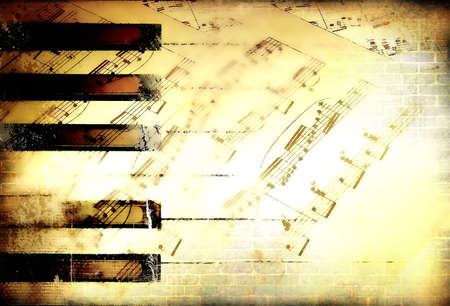 vintage musical background photo
