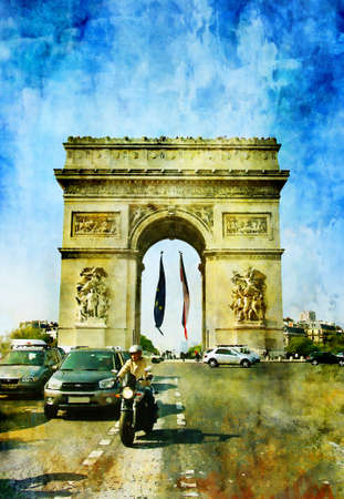 famous painting: Parisian pictures series -watercolor style