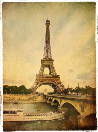 romantic travel: Parisian pictures series - retro styled pictuer