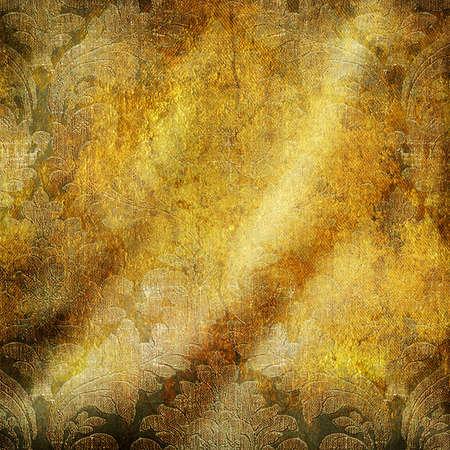 golden brocade-vintage texture photo