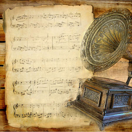 gramophone: musical retro Stock Photo