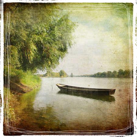denominado retro: old boat - retro styled pictuer
